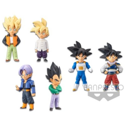 DRAGON BALL Z WORLD COLLECTABLE FIGURE-EXTRA COSTUME- SET - 6