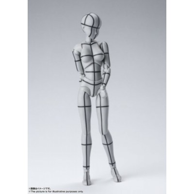 S.H.FIGUARTS BODY CHAN -WIREFRAME- (GRAY COLOR VER.)